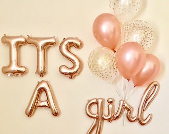 Its A Girl Script Balloon~Its A Girl Baby Shower~Baby Shower Decorations~