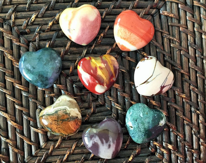 Mystery Crystal Heart Stone w/ Reiki Perfect for Heart Chakra, Meditation, Yoga Gift