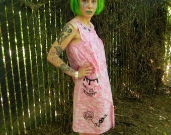 Hand painted Demon Baby Dress