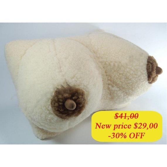 breast pillow sheep wool cushion sheep boobs pillow cushion