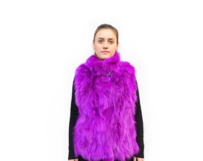 Fuchsia Warm Fox Vest F474