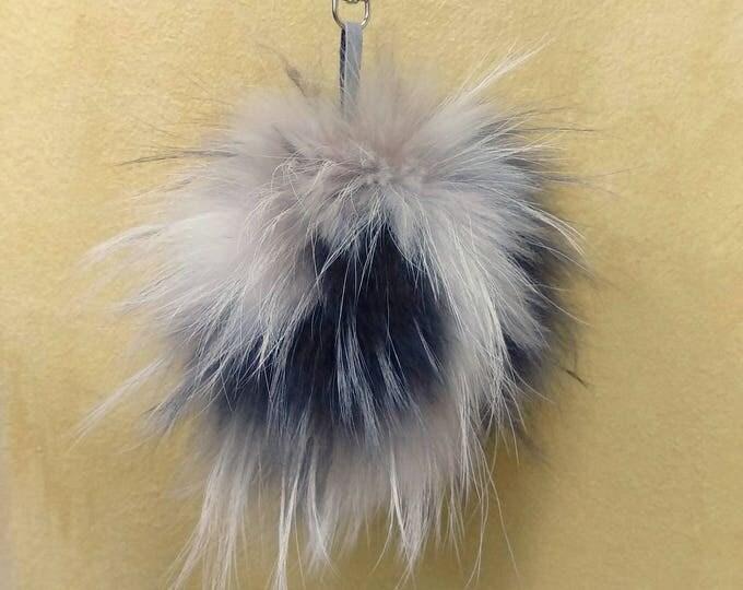 Fox Fur Pom Pom, Bag Pom Pom,Fur keychain F620