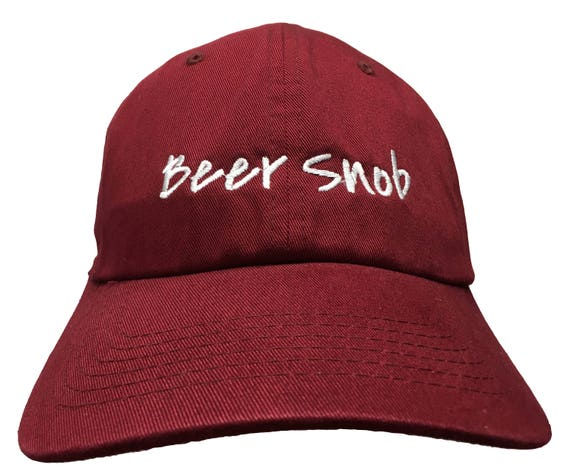 Beer Snob - Polo Style Dad Cap (Various Colors with White Stitching)