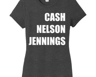 Johnny Cash, Willie Nelson, Waylon Jennings Shirt, Country Legends Shirt, Men of Country, Concert Tee, Country Music Shirt