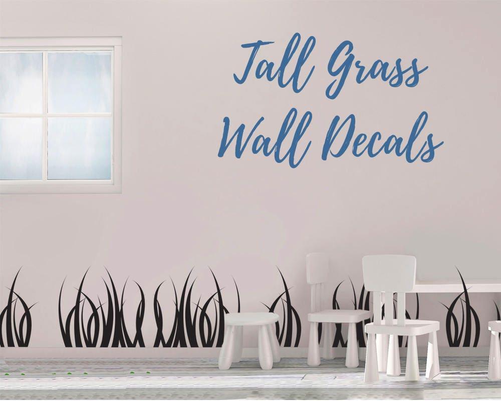Tall Grass Wall Decal   Grass Wall Decal   Vinyl Wall Decal   Grass   Grass  Decals   Home Decor  Grass Wall Art
