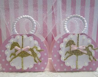 ON SALE! Mini Carousel Favor Boxes. Carousel Party Favors, Carousel Horse Party Favors, Carousel Party, Favor Boxes, Carousel Horse Favors