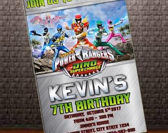 Power Rangers Invitation, Power Rangers Birthday Invitation, Power Rangers, Birthday Invitation