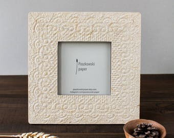 Square frame - Photo frame - Picture frame - Rustic home decor - Wedding photo frame