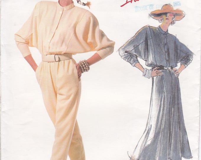 FREE US SHIP Vogue Sewing Pattern 1840 Vintage Retro 1980s Designer Carol Horn Jumpsuit Dress Dolman Uncut Individualist Size 8, 12  new