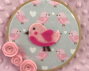 Pretty Birdy Wall Art || Nursery Wall Decor || Baby Room Decor