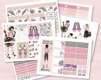 Glam, Your Fabulous Weekly Planner Sticker Kit |  Ideal for the Vertical Erin Condren