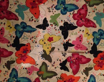 Butterfly Fabric/Quilting Fabric /Cotton/ Long 1/4/ 1/2 Metre/by Metre/ Patchwork Fabric/Craft DIY/Sewing Fabric/Pink/Blue/Black/Butterflies