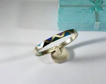 Bracelet Mexico Silver 925 inlay-stones stainless SA385