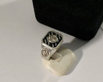 19 mm ring Silver 900 crystal scorpion rar SR997