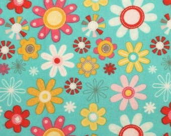 Riley Blake Girl Crazy, Blue, Cotton Flannel, 1/2 yd.