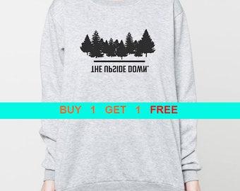 The Upside Down sweatshirt Upside Down sweater Hawkins shirt pullover jumper unisex crewneck grey S M L XL