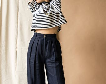 1980s Linen Trousers