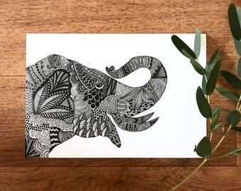 Happy Elephant Print