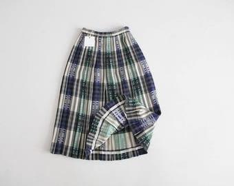 textile skirt | plaid wool skirt | wool pleated skirt