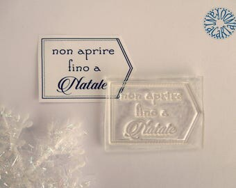 """Clear stamp """"Do not open until Christmas"""""""