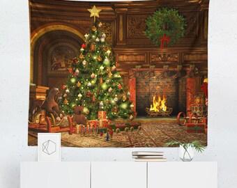 Christmas Wall Art | Christmas Tapestry | Christmas Wall Décor | Christmas Gift | Christmas Wall Tapestry | Christmas Art | Christmas Décor