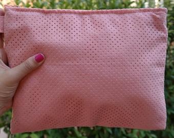 Pink Velvet Pouch