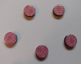 Pink Geometric Magnet Set