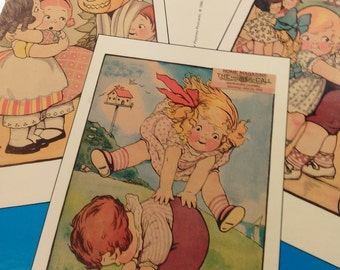 Dolly Dingle Playtime Postcards/Grace D. Drayton/In Full Color/Pre-Owned 24 Ready To Mail Postcards/7 Missing