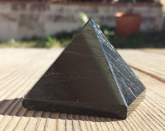 BLACK TOURMALINE natural large gemstone crystal pyramid 52mm [19]