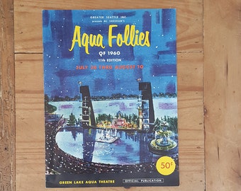 1960 Aqua Follies program from the Seafair Festival