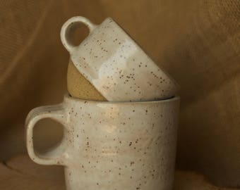 White Speckled Mug - Tea Mug Set