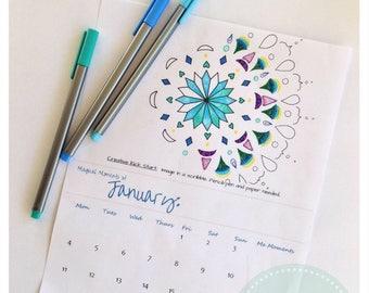 Creative Calm Calendar