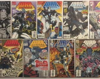 War Machine #s 1-6, 8, 11, 12 Marvel Comic Books Lot of 9 VF 8.0 to VF/NM 9.0 Condition