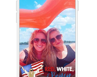 Red, White, & Bougie Bach Snapchat Filter   Patriotic Bachelorette Party Snapchat GeoFilter   Birthday Party Snapchat GeoFilter