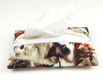 Tissue holder, kleenex cover, travel - cats
