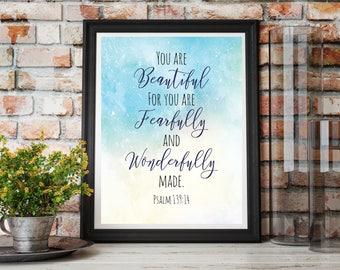 Scripture Wall Art, Printable Wall Art, Bible Verse Wall Art, Instant Download Pritable
