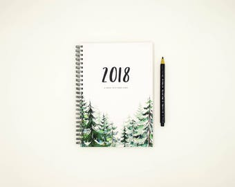 2018 Planner - Weekly 2018 Planner Diary Hardcover (FOREST)
