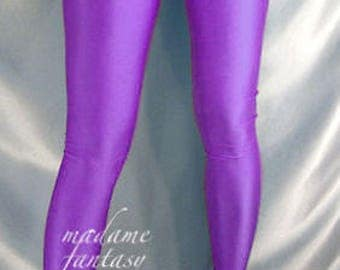 Violet footed spandex leggings tights