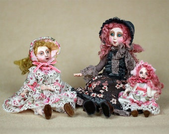 Handmade Collectible Unique Art Doll, OOAK Doll, Fantasy Creature  Clay Poseable Art doll, Folk Art Doll 16.5''
