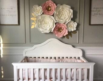 6 pc Giant Paper Flower set, Nursery, Birthday, Home Decor