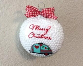 Christmas In July/ CIJ/ Camper Christmas Ornament/ Christmas Ornament/ Trailer Christmas Ornament/ Trailer/ Camper/ Merry Christmas