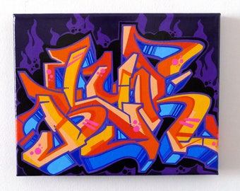 "Blur Graffiti Art Canvas 8x10"" - DarkFire"
