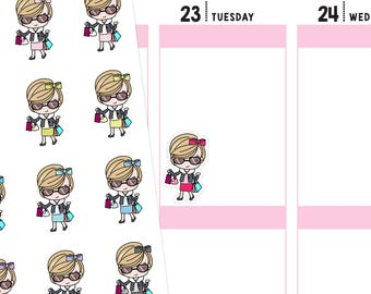 Jenni Shopping Planner Stickers, Shopping Stickers, Shopping Day Stickers, Retail Therapy Stickers, Cute Stickers
