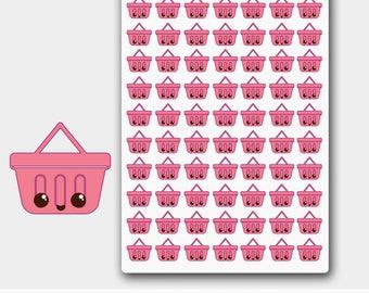 Kawaii Grocery Stickers, Grocery Icon Stickers,Shopping Basket Stickers,Shopping Basket Planner,Shopping Cart Sticker,Shopping Cart Planner