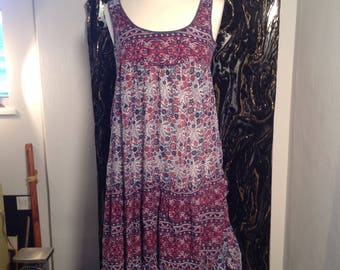 Indian Cotton Hippy Dress size 10,12,14