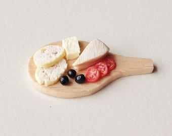Miniature Food - Cheese Board | 1:12 Scale Miniature