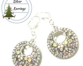 Exciting Rhinestone Earrings, Large Beautiful Earrings, On Trend Stylish Earrings,Special Christmas Gift, Gal Pal Gift, Holiday Gift Guide