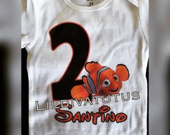 Finding Nemo shirt / Finding Nemo birthday shirt / finding Nemo birthday outfit / Nemo birthday shirt / Nemo birthday outfit