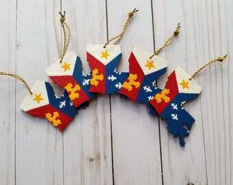 Acadian Flag Ornament, Louisiana, Acadiana, Cajun Ornament, state ornaments, LA