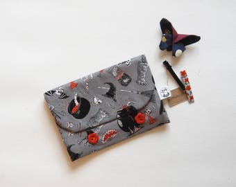 hair slide clips barrette bag pouch wizard witch